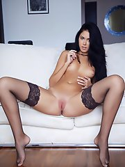 """Fall in love with a vivacious and highly energetic babe Macy, blessed with a pretty face and breathtaking athletic physique, a delectable brown"